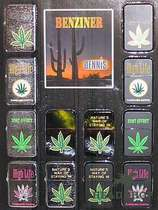 "Petrol Lighter ""Cannabis"" #1"