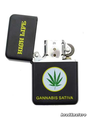 "Petrol Lighter ""Cannabis"""