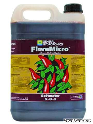 GHE - FloraMicro Soft-Water 5 Liters