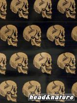 "Zip Bags ""Golden Skull"" 50 x 60mm 100 pcs #1"