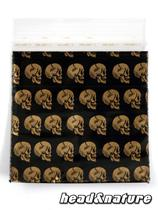 "Zip Bags ""Golden Skull"" 50 x 60mm 100 pcs #0"