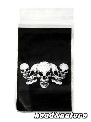 "Zip Bags ""Skull"" 40 x 60mm 100 pcs"