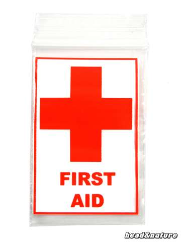 "Zip Bags ""First Aid"" 40 x 60mm 100 pcs."