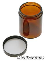 Brown Pharmacy Jar with plastic cap, 180 ml #1