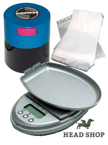 Packing-Set with digital scale, Tightvac and zip bags
