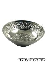 Metal Hashtray with tendril motif #0