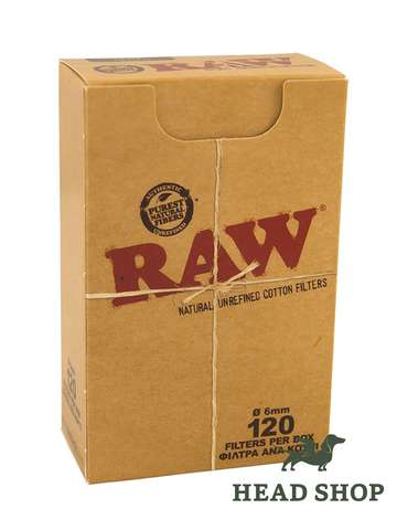 RAW Cigarette Filters Slim 6mm Box