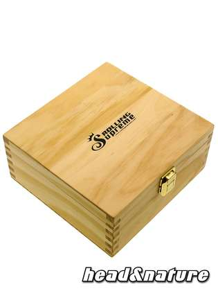 Rolling Supreme super sized wooden box 22.5 x 21.5 x 10 cm