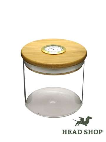 Dank 420 Hygrometer airtight Glass Jar - 72x70mm