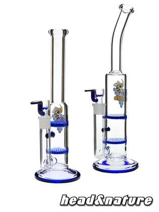 Black Leaf Bong  Double Colored Honeycomb 26cm