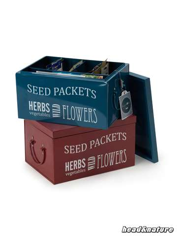 Seed Packets Organiser by Burgon & Ball-different colors